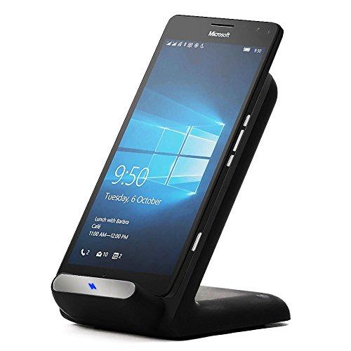 Cellonic® Wireless Ladestation für Qi-Geräte (Samsung Galaxy S6, S7, Edge, Note 5 / Nokia, Microsoft Lumia 950, 930, 830, 735 ...) Ladegerät Ladekabel Netzteil Ladepad Induktionslader Smartphone Handy Standfunktion