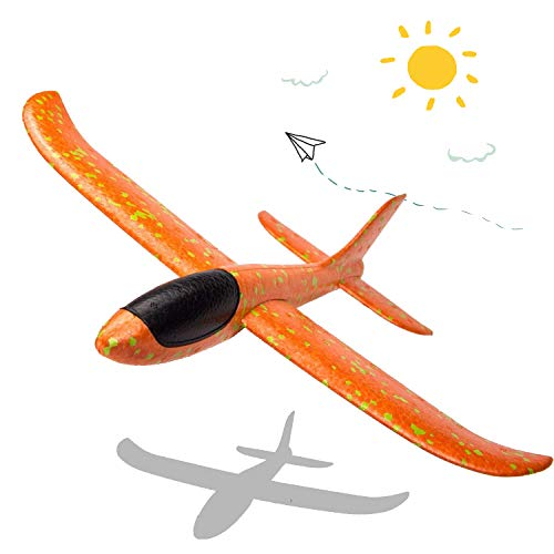(LOFEE Throwing Foam Airplane Toys for Boys,Glider Plane for Kids, Birthday Gift Flying Gliders, Foam Airplane for Boys & Girls)