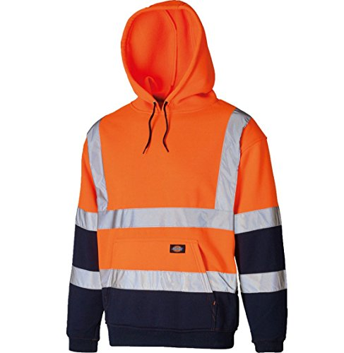 navy Orange Pullover Orange shirt Homme Manches Taille Capuche Sweat 21fashion À Longues Hoodie Unique SFPqP4