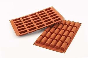 Sf129 molde de silicona 30 cavidades con forma de buche color terracota hogar - Moldes silicona amazon ...