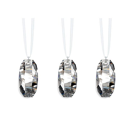 (Swarovski Strass Prisms 3 Pcs Crystal Clear 1.5