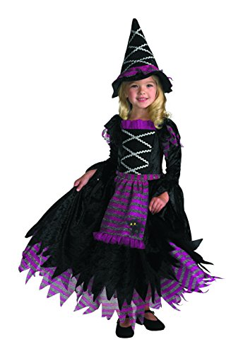 Good Children Halloween Costumes (Fairytale Witch Girls Costume, 4-6X)