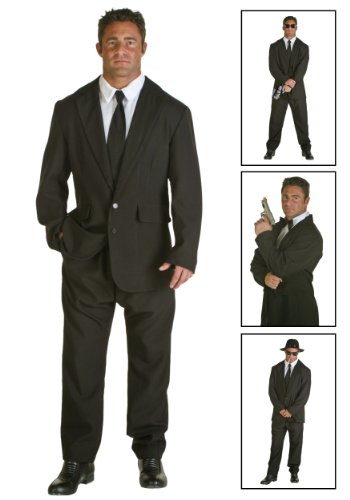 Mens Black Suit Costume Medium