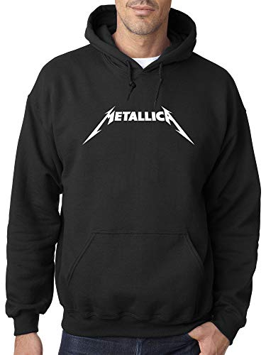 New Way 925 - Adult Hoodie Metallica Metal Rock Band Logo Unisex Pullover Sweatshirt 4XL Black