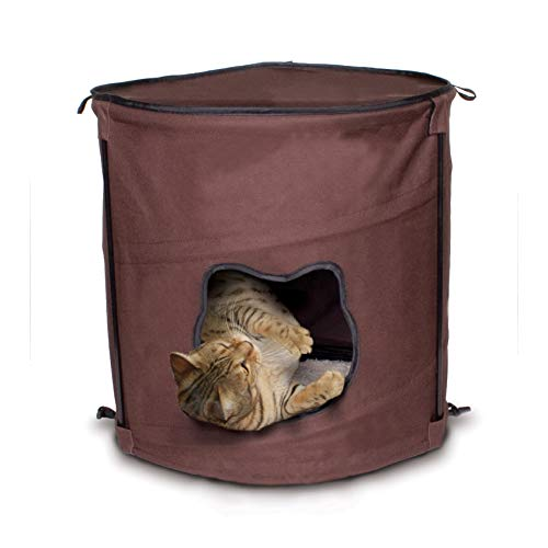 - Ware Manufacturing Canvas 1 Level Kitty Pop Up Condo Hideout
