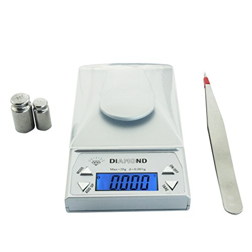 NEXT-SHINE POC-J038 Digital Jewellery Scale 20g/0.001g Professional Pocket Scale with High Accuracy Sensor, LCD Screen, Tare for Jewelry, Gold, Gem, Coins. (Point Scale)