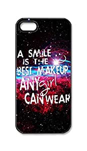 BlackKey a smile is the best makeup any girl can wear Snap-on Hard Back Case Cover Shell for iPhone 4s 4s -2716