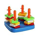 Shape Sorter Geometric Stacker Toy Plastic Building Blocks