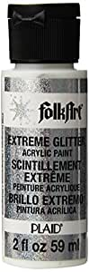 FolkArt Extreme Glitter Acrylic Paint in Assorted Colors (2 Ounce), 2796 Hologram
