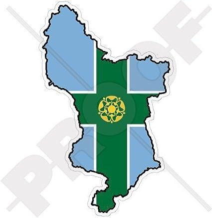 Map Of England Derbyshire.Amazon Com Derbyshire County Map Flag Derby England Uk 5 1 130mm