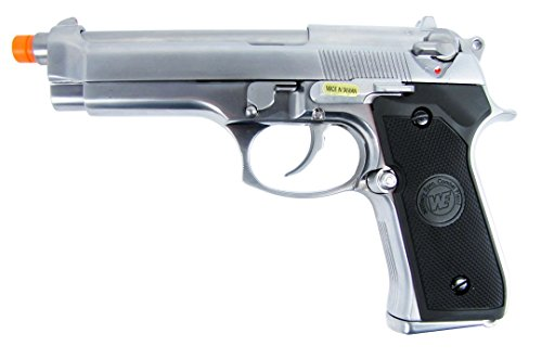 Silver Full Metal - we m92 gas/co2 blowback full metal - silver(Airsoft Gun)