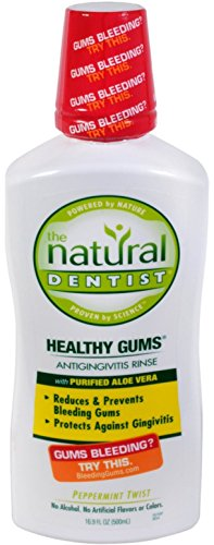 The Natural Dentist Moisturizing Healthy Gums Antigingivitis Rinse, Peppermint Twist 16.90 oz (Pack of 5) - Healthy Gums Peppermint Twist