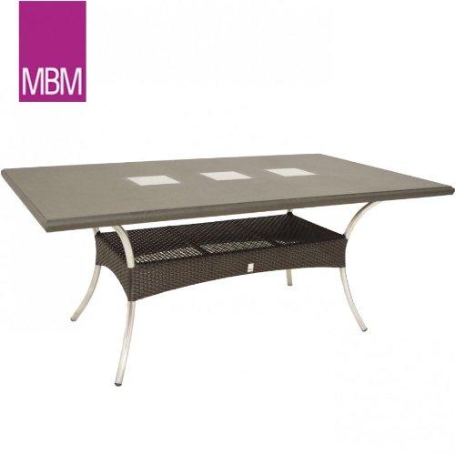 Amazon De Mbm Gartentisch Granit 180x100x73 5cm Mirotex Aluminium