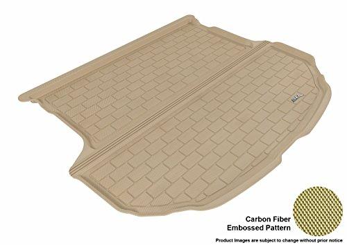 (3D MAXpider Cargo Custom Fit All-Weather Floor Mat for Select Hyundai Santa Fe Sport Models - Kagu Rubber (Tan))