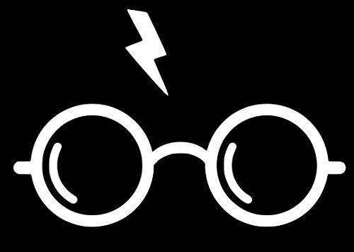 Harry Potter Glasses Sticker Decal Vinyl (3''x2'', White)