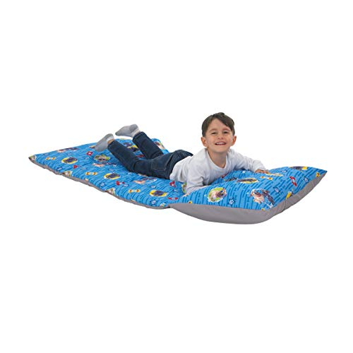 - Disney Puppy Dog Pals - Blue, Grey, Yellow & Red Deluxe Easy Fold Toddler Nap Mat, Blue, Grey, Yellow, Red