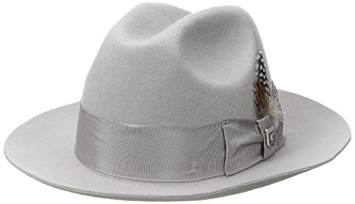 547de63b95e Stacy Adams Men s Cannery Row Wool Felt Fedora Hat
