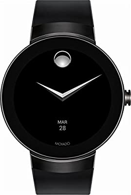 Movado - Connect Smartwatch 46.5mm Dark Gray Ion-Plated Stainless Steel - Dark Gray by Movado USA