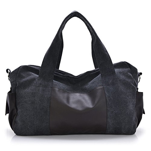 Moda Bolsa De Lona Viajes Ocasionales Hombres Hombro Portátil Bolsa De Mensajero De La Marea,Gray black