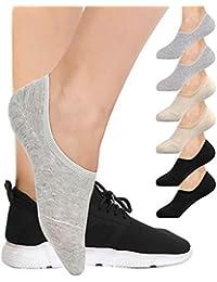 6 Pairs No Show Socks For Women, BESTENA Women's Cotton Invisible Socks Non Slip Socks(US Womens Shoe 5-8)