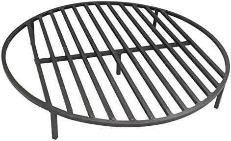 TITAN GREAT OUTDOORS Round Fire Pit Grate 36.5'' Heavy Duty Grill Cooking Campfire Camp Ring 1/2″ Steel
