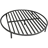 TITAN GREAT OUTDOORS Fire Pit Grate 36.5'' Round Heavy Duty Cooking Campfire