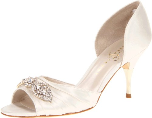 Ivanka Trump Women's Nanci2 Pump,Ivory Satin,9 M US by Ivanka Trump