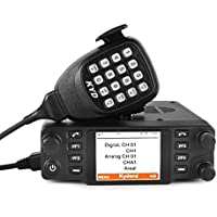 Kydera CDM-550H DMR 400-430 440-480Mhz UHF Large LCF Display 40W 25KM Digital Car Radio Ham Transceiver, with Programming Cable & Software