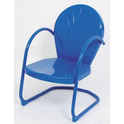 Atlantic Outdoor Arm Chair (Metal Tulip Dining Arm Chair Finish: Blue)