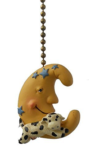 Cow Jumped Over the Moon Nursery Baby Ceiling Fan Pull (Cow Jumped Over The Moon Nursery Rhyme)