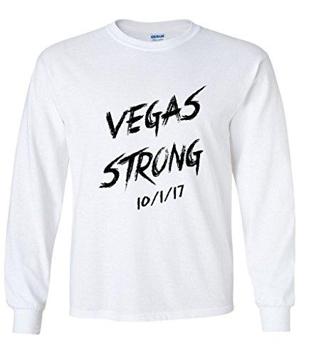 Vegas Strong Memorial Shirt Route 91 Tragedy Long Sleeve Large - Las Vegas Mens Clothes
