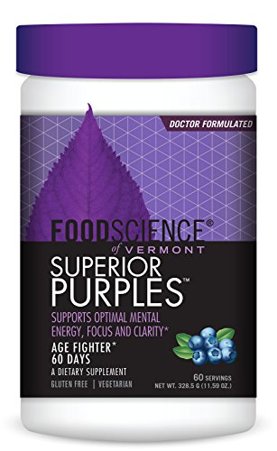 (FoodScience of Vermont Superior Purples, Dietary Supplement Powder for Healthy Aging, 60 Servings)