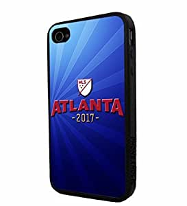 Zheng caseZheng caseSoccer MLS ATLANTA 2017 SOCCER FOOTBALL CLUB, Cool iPhone 4/4s / 4s Smartphone iphone Case Cover Collector iphone TPU Rubber Case Black