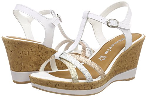 197 28347 Uk White bar Comb 3 Tamaris White T Sandals Women's white fR6nqwOHP