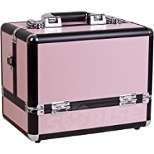 Sunrise C3002PPPK Professional Makeup Cosmetic Beauty Train Case Organizer Craft Storage with 6 Trays Smooth, 1-Count
