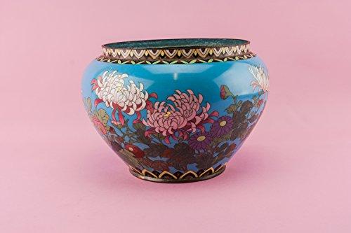 Amazon Antique Japanese Cloisonne Enamel Jar Vase Floral