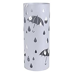 Amazon.com: SONGMICS Metal Umbrella Stand Silver Gray ...