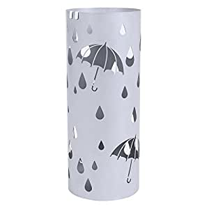 "SONGMICS Metal Umbrella Stand Silver Gray Umbrell, ULUC23S, Silver Gray, 7 5/8""L x 7 5/8"" W x 19 1/4"" H"
