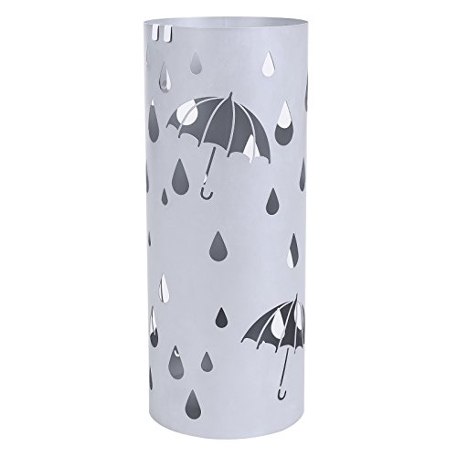 SONGMICS Metal Umbrella Stand Silver Gray Umbrella Holder Ho