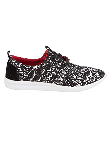 TOMS x Prabal Gurung Black Snow Leopard Del Rey Womens Shoes, Black/White, 7