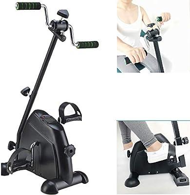 Ejercitadores de pedales, entrenador de pedales de bicicleta de rehabilitación para piernas, brazos y rodillas con monitor LCD, para discapacitados, sobrevivientes de accidentes cerebrovasculares: Amazon.es: Hogar
