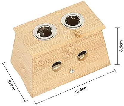 Bambú moxa moxibustión caja de acupuntura Relajación soporte del rodillo del palillo de dispositivos del cuello del cuerpo del brazo del punto de acupuntura masaje Terapia Moxibuting (Color : B): Amazon.es: Salud