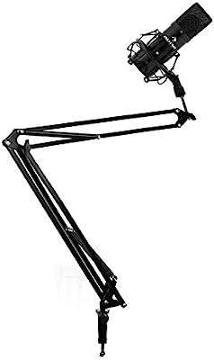 Auna Studio micrófono w/juego de mesa micrófono Boom brazo soporte ...