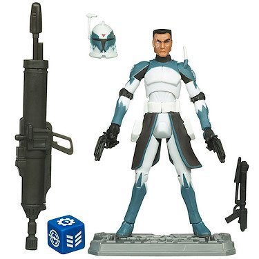 Star Wars 2011 Clone Wars Animated Action Figure CW No. 48 Clone Commander Wolfe ()