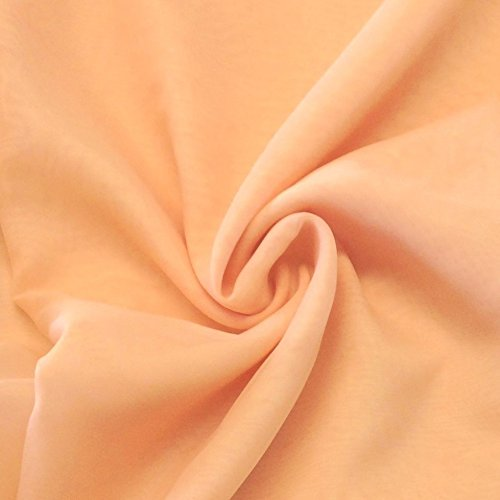 Pappermint Store Peach Sheer Voile Fabric 118