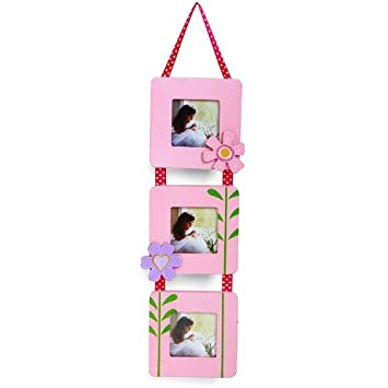 Multi Picture Photo Frames Set Wall Decor Hanging Pink Kids Baby ...