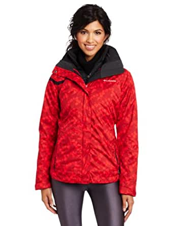 Columbia Women's Outer West Interchange Jacket, Bright Red Print, X-Small