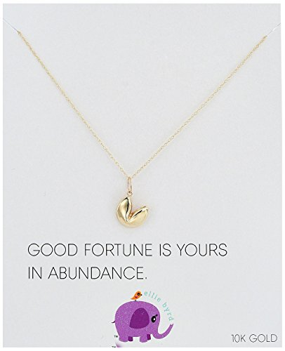 ellie byrd 10k Yellow Gold Fortune Cookie Pendant Necklace, - Tiffany Sydney