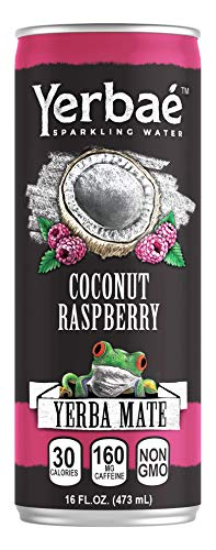 Yerbae Enhanced Sparkling Water Coconut Raspberry (12 Pack) Energy Yerba Mate