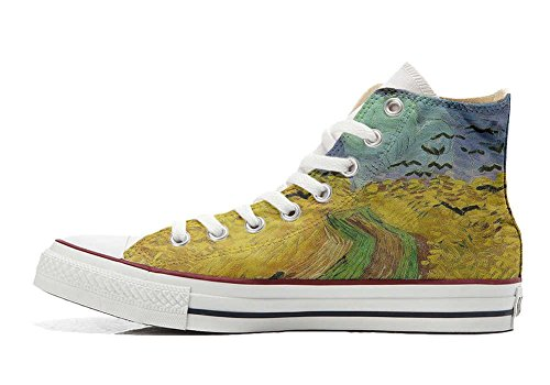 Schuhe Van All Gogh Converse Handwerk personalisierte Customized Schuhe Hi Star w64q4XT